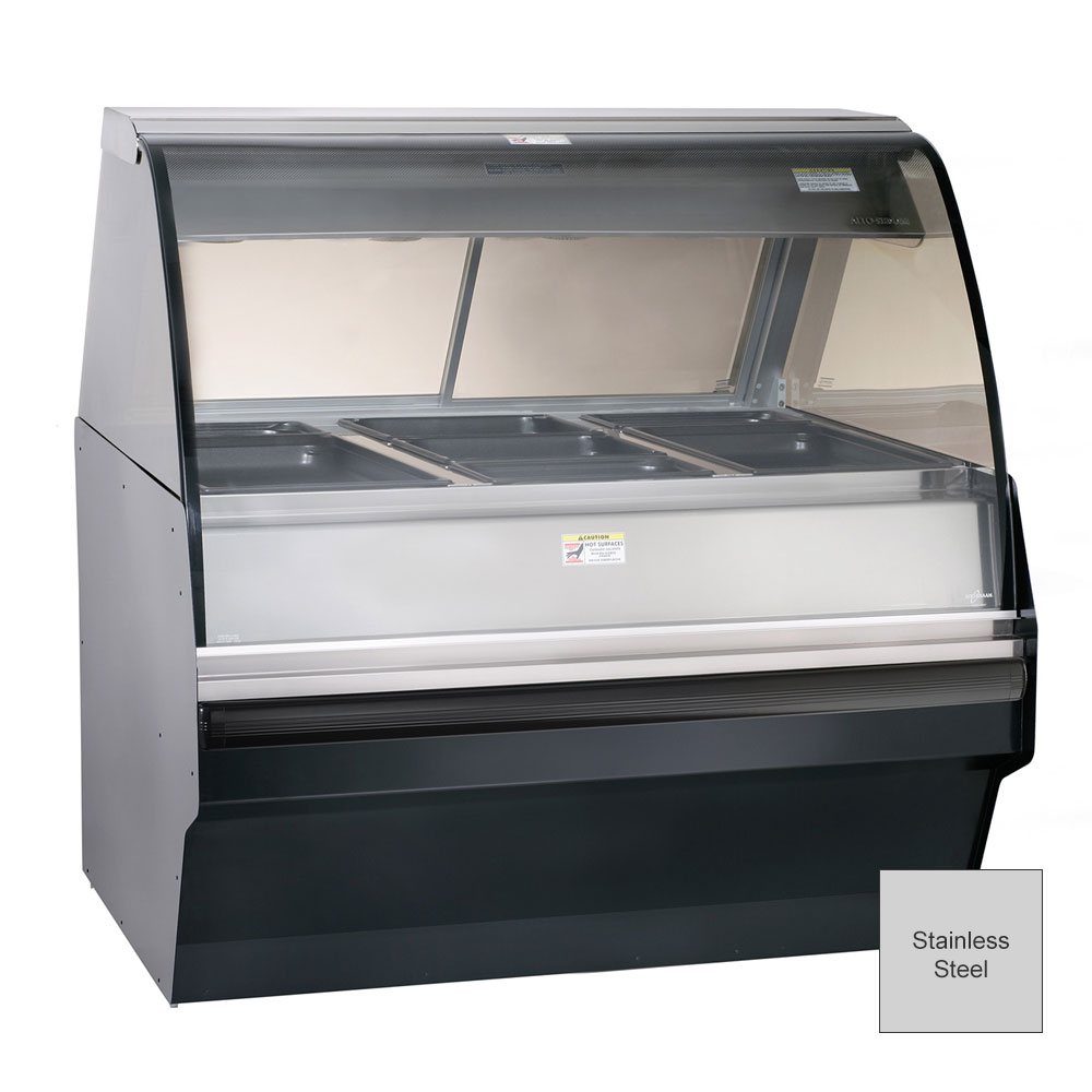 Alto Shaam TY2SYS-48/P-SS Self Serve Hot Deli Display w/ TY2-48/P Case, Stainless