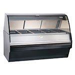 Alto Shaam TY2SYS-72-BLK Full Serve Hot Deli Display w/ TY2-72 Display Case, Black