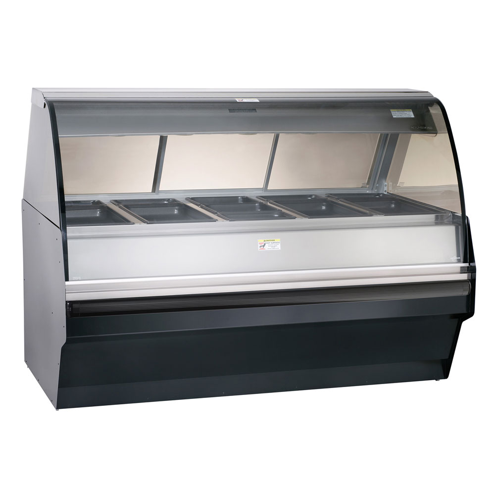Alto Shaam TY2SYS-72/P-BLK Self Serve Hot Deli Display w/ TY2-72/P Display Case, Black