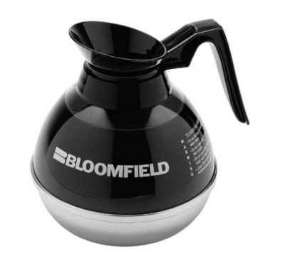 Bloomfield REG10114BL1 Unbreakable Decanter w/ Black Handle, Stainless Bottom