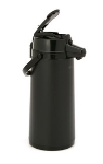 Bloomfield 7763-ALB 74-oz Lever Action Airpot w/ Glass Liner, Brew-Thru Stem, Black