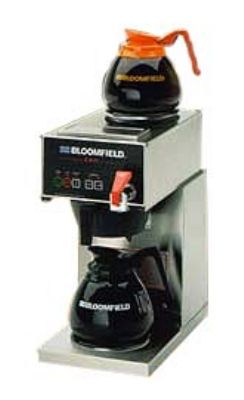 Bloomfield 1040D2F Automatic Coffee Brewer w/ Faucet, 1-Upper & Lower Warmers, 120V