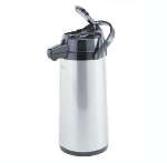 Bloomfield 7760-ALM 74-oz Lever Action Airpot w/ Glass Liner, Brew-Thru Stem, Aluminum