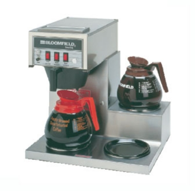 Bloomfield 8573D3 Koffee King Automatic Coffee Brewer, 3-Lower Warmers, Step Right