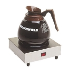 Bloomfield 8851S Single Coffee Warmer w/ Enameled Plate, 7.5 x 7.5 x 3-in
