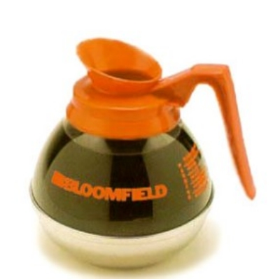 Bloomfield DCF8885O3 Plastic & Stainless Unbreakable Decaf Decanter w/ Orange Handle