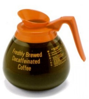 Bloomfield DCF8901O24 Glass Decaf Decanter w/ Orange Handle