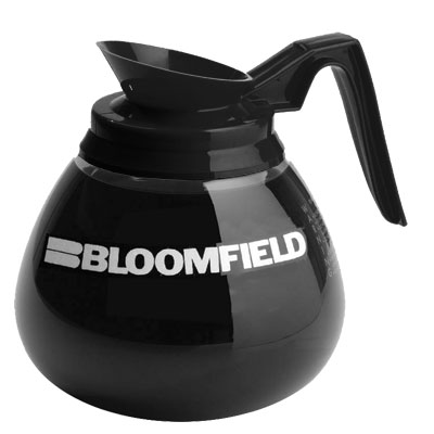 Bloomfield REG8903BL3 Black Handle Glass Decanter
