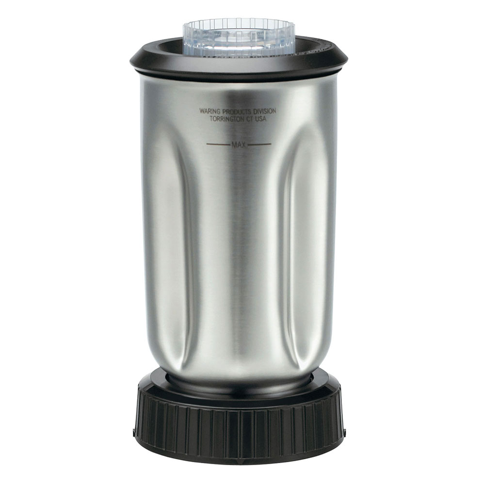 Waring CAC37 32-oz Stainless Blender Container for BB150S & BB160S w/ Lid