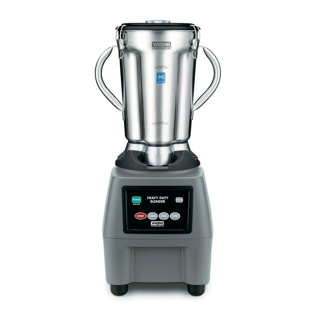 Waring CB15 Heavy Duty Food Blender w/ 1-gal Stainless Container & Clear Lid, Key