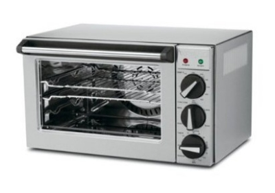 Waring CO900B Convection Oven w/ Timer, .9-Cubic Feet, Brushed Stainless