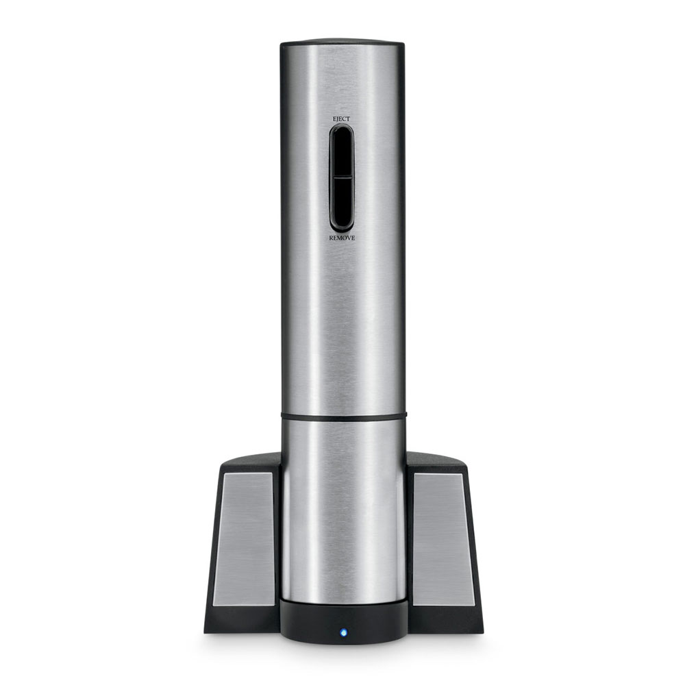 Waring CRS50 Electric Wine Opener - Foil Cutter, Charging Base, Brushed Stainless