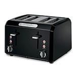 Waring CTT400BK Toaster w/ Cool Touch Housing & Shade Control, (4) 1.3-in Slots, Black