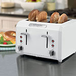 """Waring CTT400W Toaster Oven w/ Cool Touch Housing & Shade Control, (4) 1.3"""" Slots, White"""