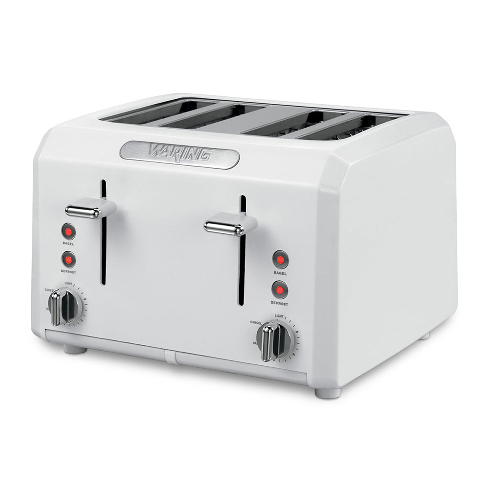 Waring CTT400W Toaster Oven w/ Cool Touch Housing & Shade Control, (4) 1.3-in Slots, White