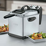 Waring DF175 Digital Deep Fryer w/ Removable Oil Container & Timer, 1.7-lb Food Capacity