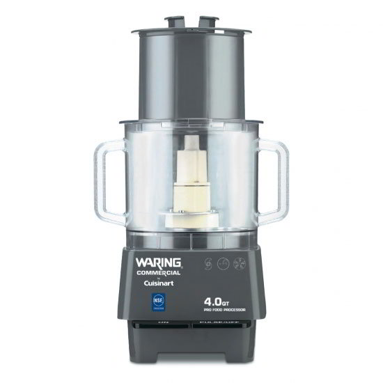 Waring FP40 4-qt Commercial Food Processor - Vertical Chute Feed, Polycarbonate Batch Bowl