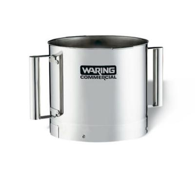 Waring FP40SSB 4-qt Stainless Batch Bowl for FP40 w/ 2-Handles