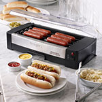 Waring HDG150 6 Hot Dog Roller Grill - Flat Top, 120v