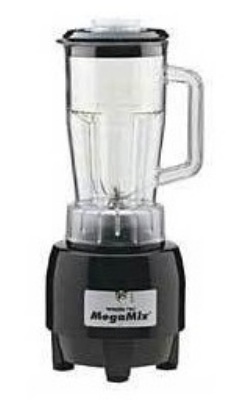Waring HPB300BK 2-Speed Specialty MegaMix Blender w/ 48-oz Poly Carafe, Black