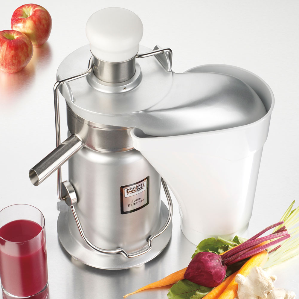Waring JE2000 High Volume Juicer w/ Die-Cast Housing & Stainless Juicing Parts