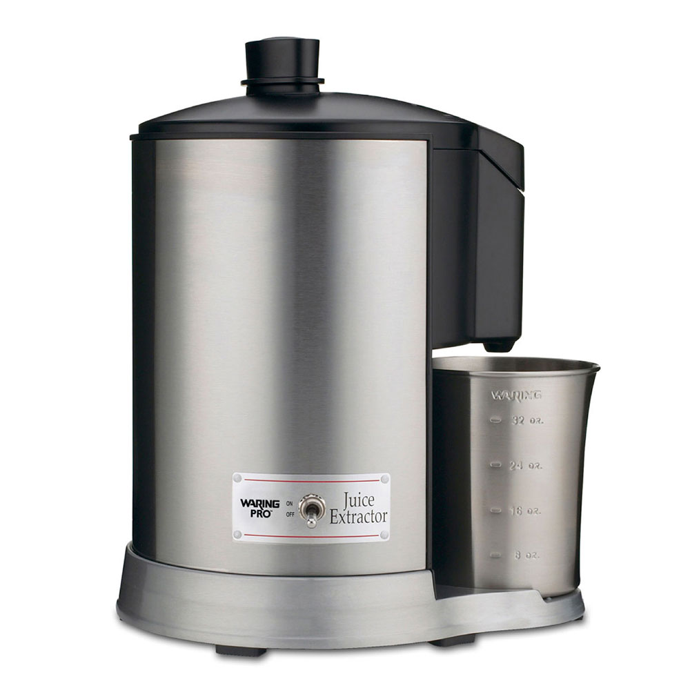 Waring JEX328 Pulp-Free Juice Extractor, Wide Feed Tube, Brushed Stainless/Black