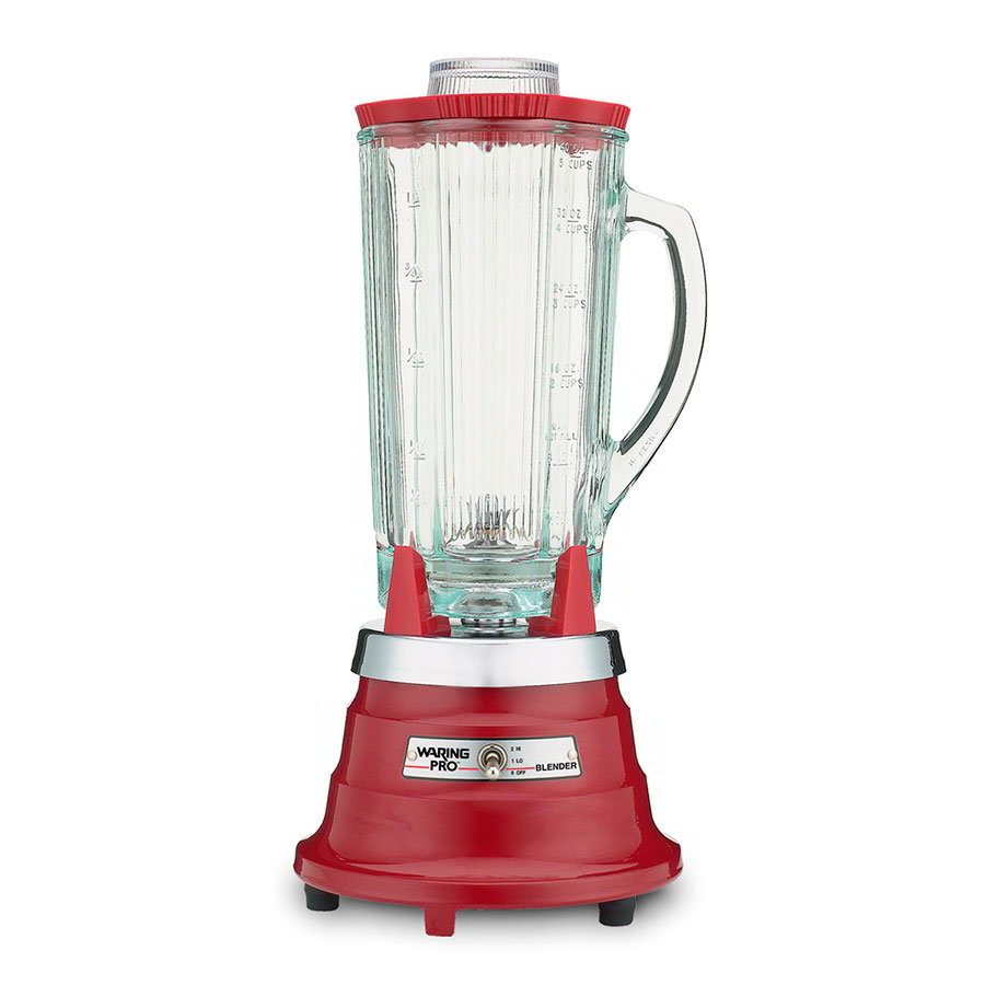 Waring PBB204 2-Speed Food Beverage Blender w/ 40-oz Glass Carafe, Red