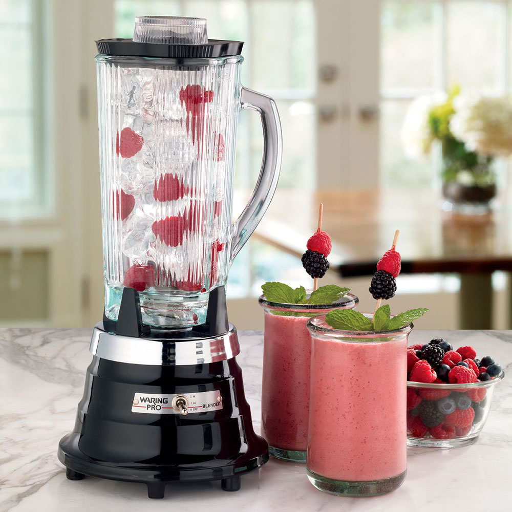 Waring PBB209 2-Speed Food Beverage Blender w/ 40-oz Glass Carafe, Ebony