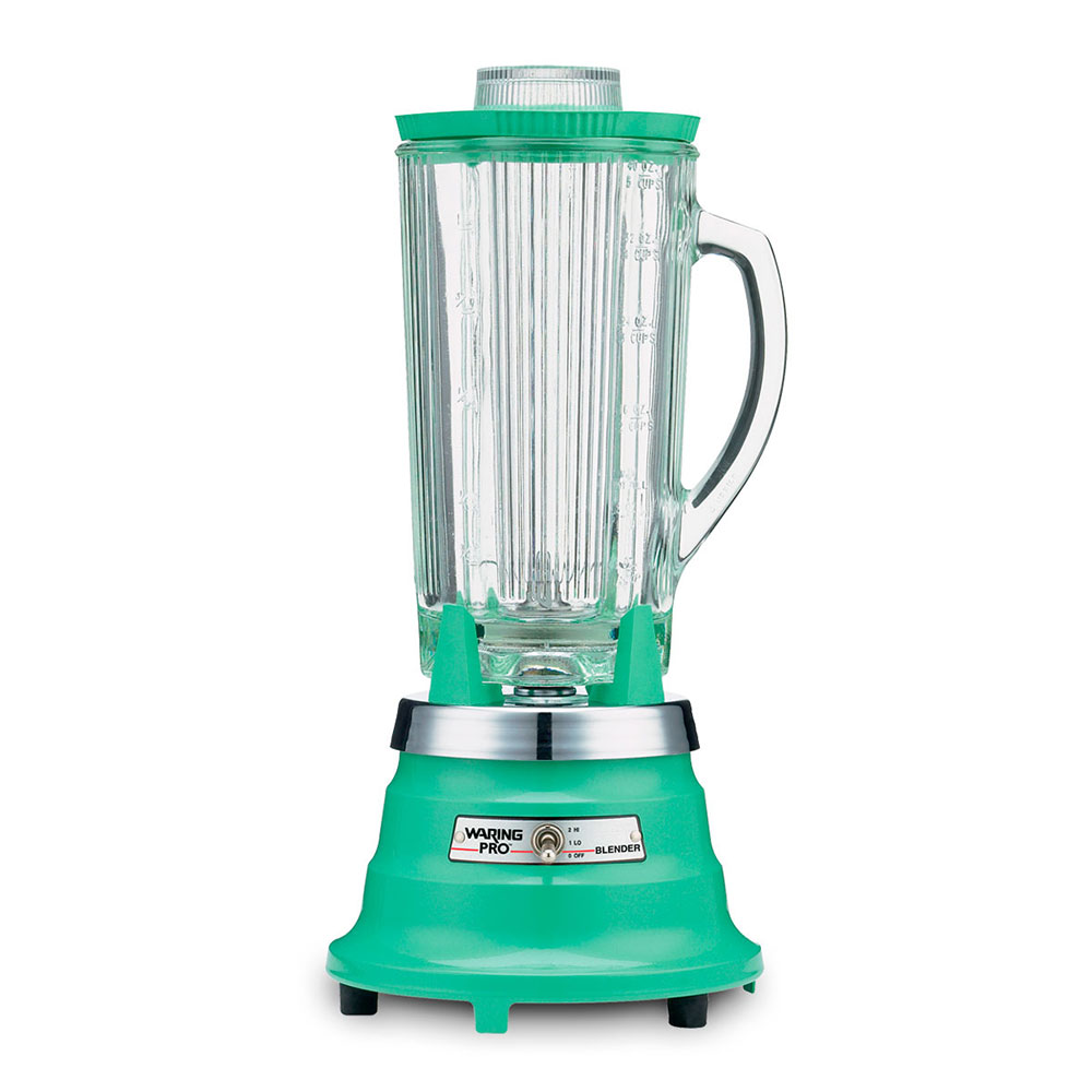 Waring PBB212 2-Speed Food Beverage Blender w/ 40-oz Glass Carafe, Retro Green