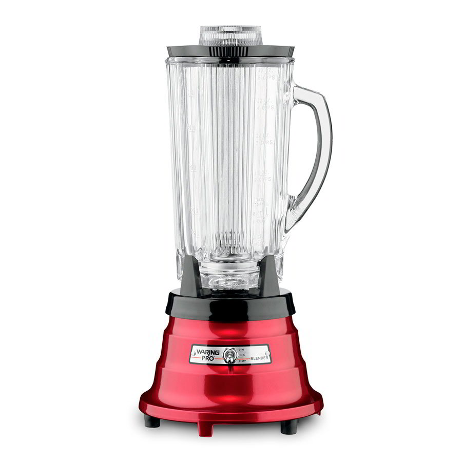 Waring PBB225 40-oz Blender w/ Cloverleaf Carafe & Waterfall Base, 550-watts, Metallic Red