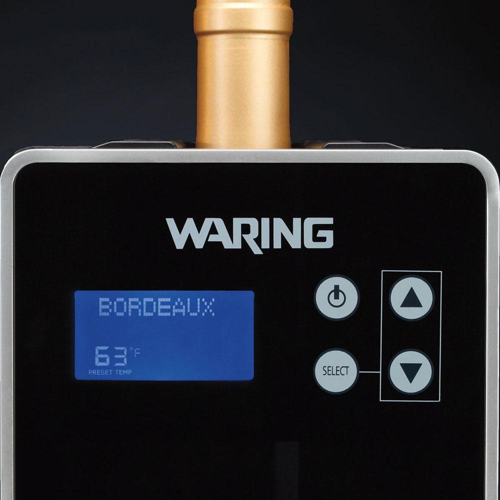 Waring PC1000 Digital Wine Chiller/Warmer - (1) Standard Bottle Size Capacity, Black