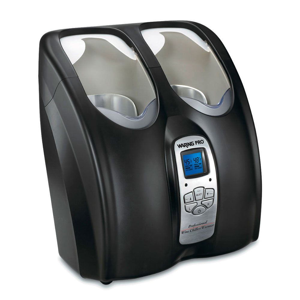 Waring PC200 Double Wine Chiller/Warmer, Dual Library Settings, Black