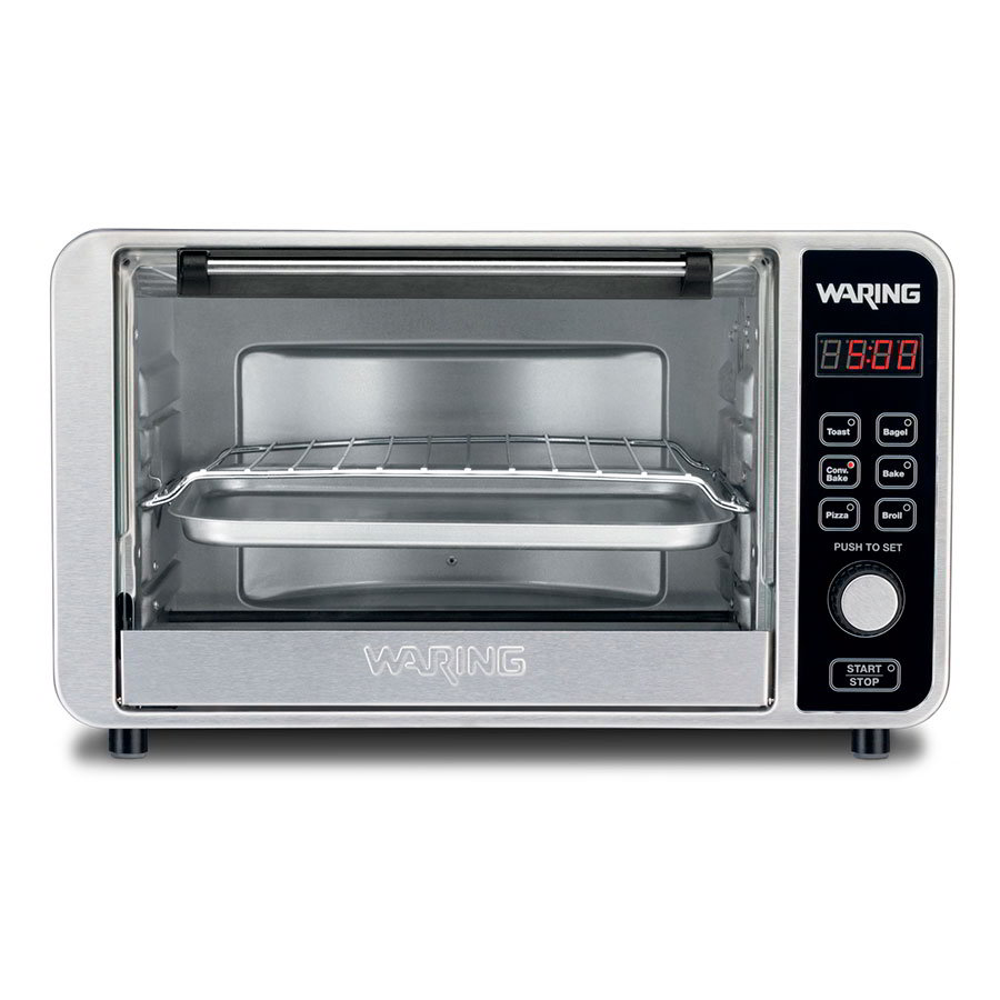Waring TCO650 Convection Oven w/ 60-min Timer & LCD Display, Holds 6-Slices or 12-in Pizza