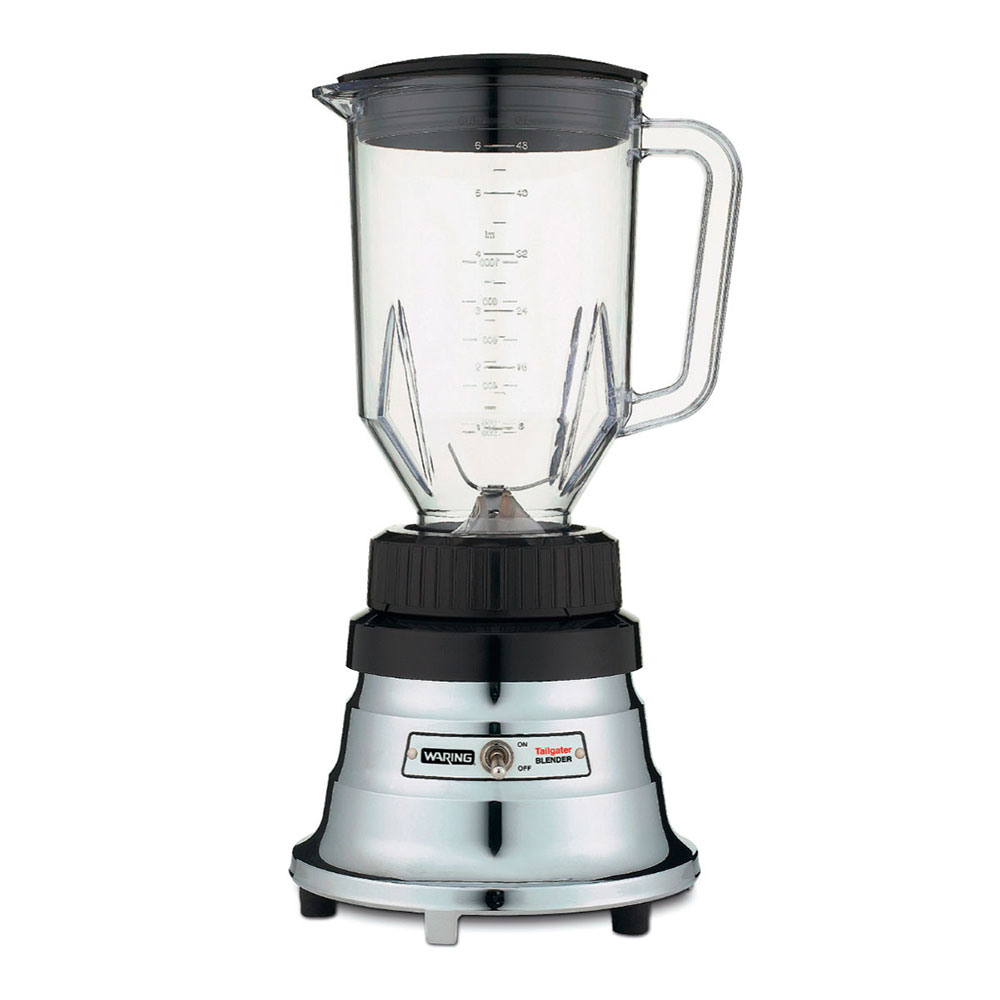 Waring TG15 Tailgater Blender w/ 48-oz Carafe, Powered By 12-Volt, Chrome