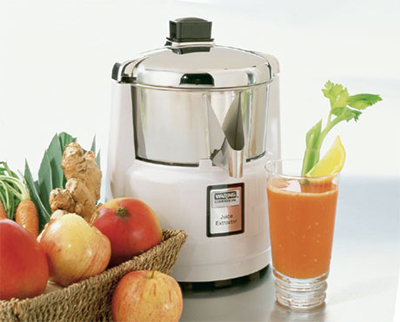 Waring 6001C Heavy Duty Juicer w/ Stainless Bowl & Cover, Pulp Free, Polycarbonate Housing