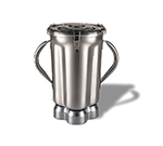 Waring CAC72 1-gal Stainless Blender Container for CB10B w/ 2-Handles & Clear Lid