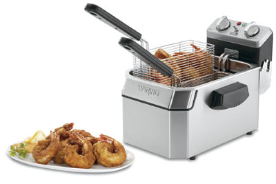 Waring WDF1000 Countertop Electric Fryer - (1) 10-lb Vat, 120v