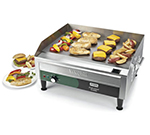 Waring WGR240 Countertop Griddle w/ Adjustable Thermostat & Splash Guards, 24x16-in