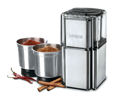 Waring WSG30 Professional Spice Grinder w/ 3-Stainless Bowls & Lids