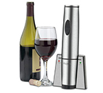 Waring WWO120 Portable Wine Bottle Opener w/ 120-Cork/Charge, Stainless Housing