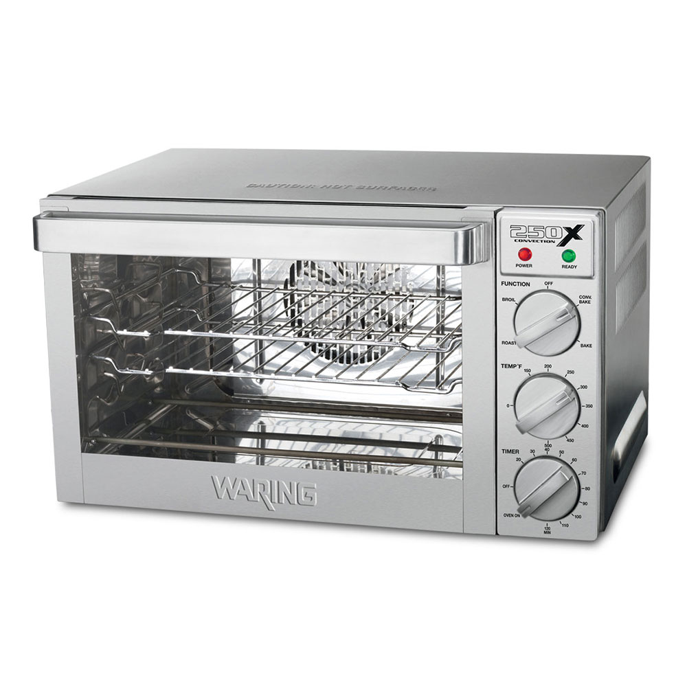 Waring WCO250X Quarter-Size Countertop Convection Oven, 120v