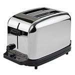 Waring WCT702 2-Slice Commercial Toaster w/ 2-Extra Wide Slots, Brushed Chrome Steel