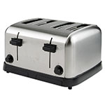 Waring WCT708 4-Slice Commercial Toaster w/ 4-Extra Wide Slots, Brushed Chrome Steel