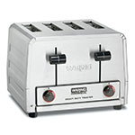 Waring WCT800 4-Slice Commercial Toaster w/ Wide Slots, 300-Slice/hr, Stainless