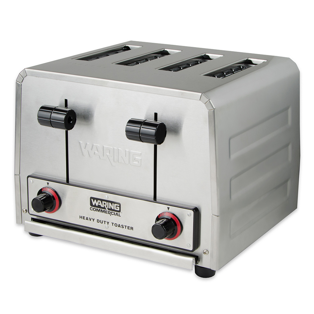 Waring WCT800RC 4-Slice Heavy Duty Commercial Toaster w/ 4-Wide Slots & 240-Slice/hr, Stainless