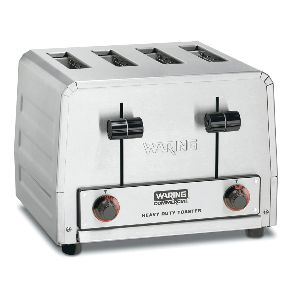 Waring WCT805B 4-Slice Heavy Duty Commercial Toaster w/ 4-Wide Slots & 380-Slice/hr, 208V