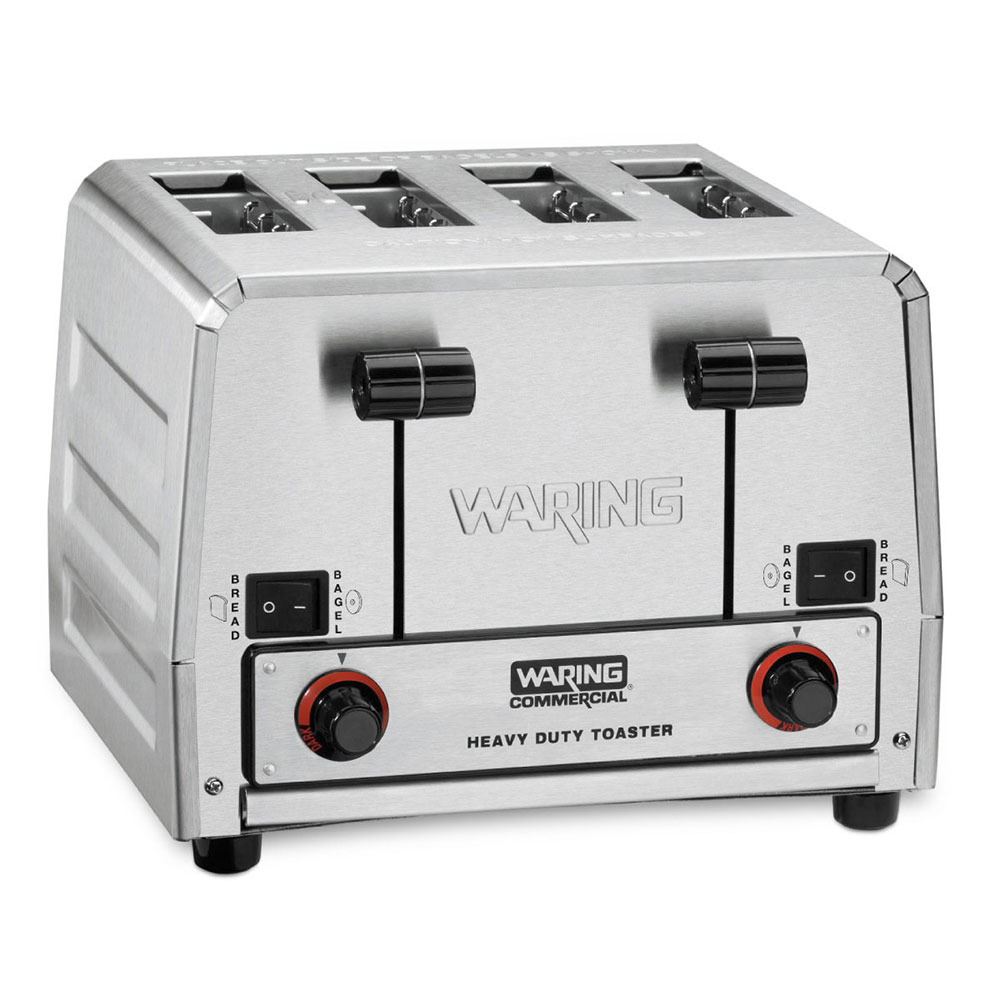 Waring WCT850RC 4-Slice Commercial Toaster w/ 300-Slices/Hr, Brushed Stainless, 120v