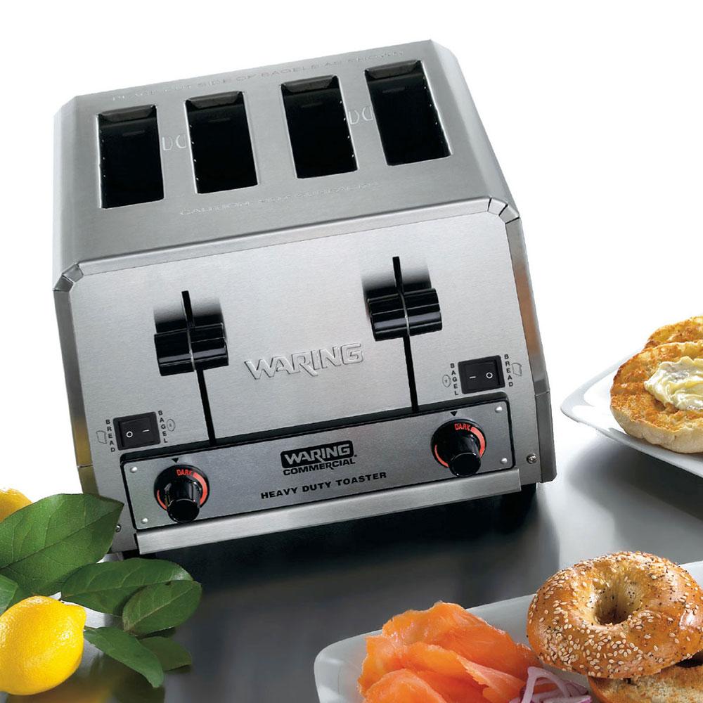 """Waring WCT855 Slot Toaster w/ 4-Slice Capacity & 1.5""""W Product Opening, 240v"""