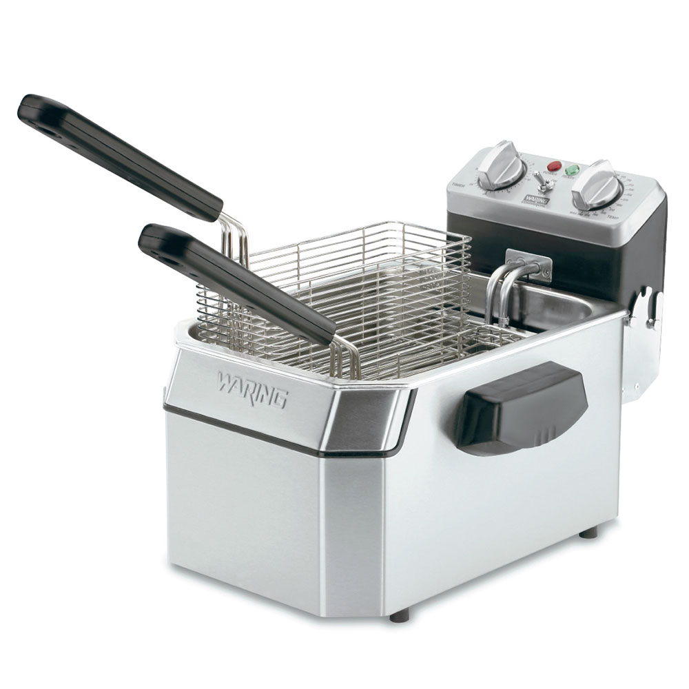 Waring WDF1000B Countertop Electric Fryer - (1) 10-lb Vat, 208v/1ph