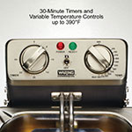 Waring WDF1000BD Countertop Electric Fryer - (2) 10-lb Vat, 208v/1ph